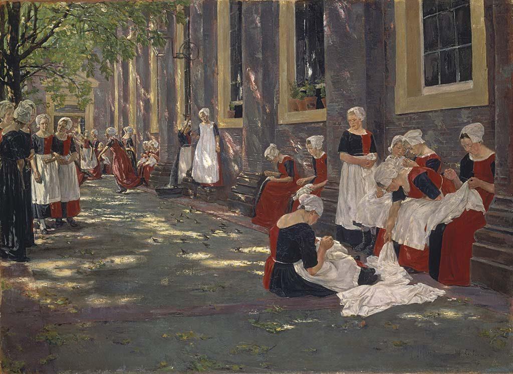 Max Liebermann Rustpauze-in-het-Amsterdamse-Weeshuis-1881-1882-coll-Städel-Museum.