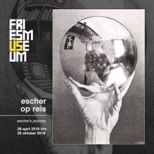 Escher op_reis Wilma_Lankhorst_in_Studio_Escher_Rome