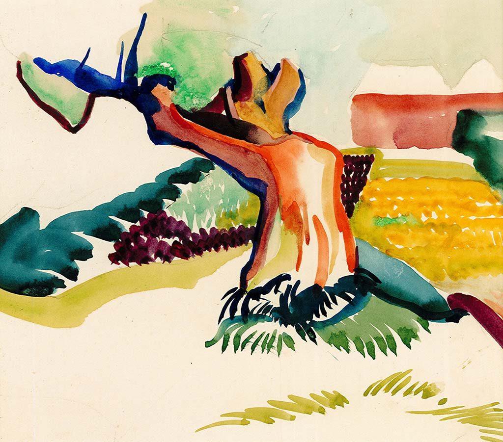 Alida_Pott_Een-geknakte-wilg_aquarel-zj-na-1918-particuliere-collectie.