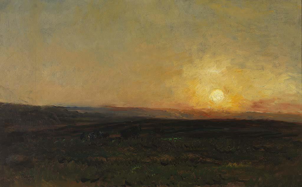 Charles-Francois-Daubigny-Zonsondergang-1876-1877.-Collectie-Museum-Gouda.-Foto-Tom-Haartsen