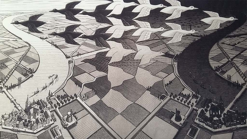 M.C_Escher-dag-en-nacht-1960-Fries-Museum.
