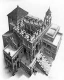 MC Escher Klimmen en dalen 1960