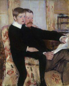 Mary_Cassatt_Alexander-J.-Cassatt-en-zijn-zoon-Robert-Kelso-1884-85-coll-Philadelphia-Museum-of-Art