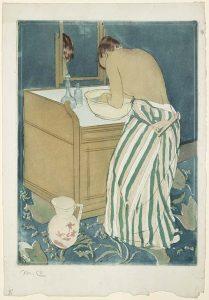 Mary_Cassatt_La-Toilette-droge-naald-1890-91-coll-Marc-Rosen-Fine-Art-NY