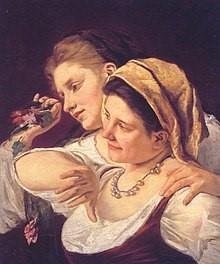 Mary_Cassatt_Twee-vrouwen-die-bloemen-werpen-1872-wiki-comm.