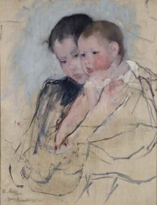 Mary Cassatt Baby-in-moedersarmen-1890-91-Coll-Pennsylvania-Academy-of-the-Fine-Arts-Philadelpia