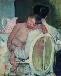 Mary Cassatt serie-moeder-en-kind_zittende-vrouw-met-kind-in-haar-arm-1889-1890-Coll.-Museo-de-Bellas-Artes-Bilboa