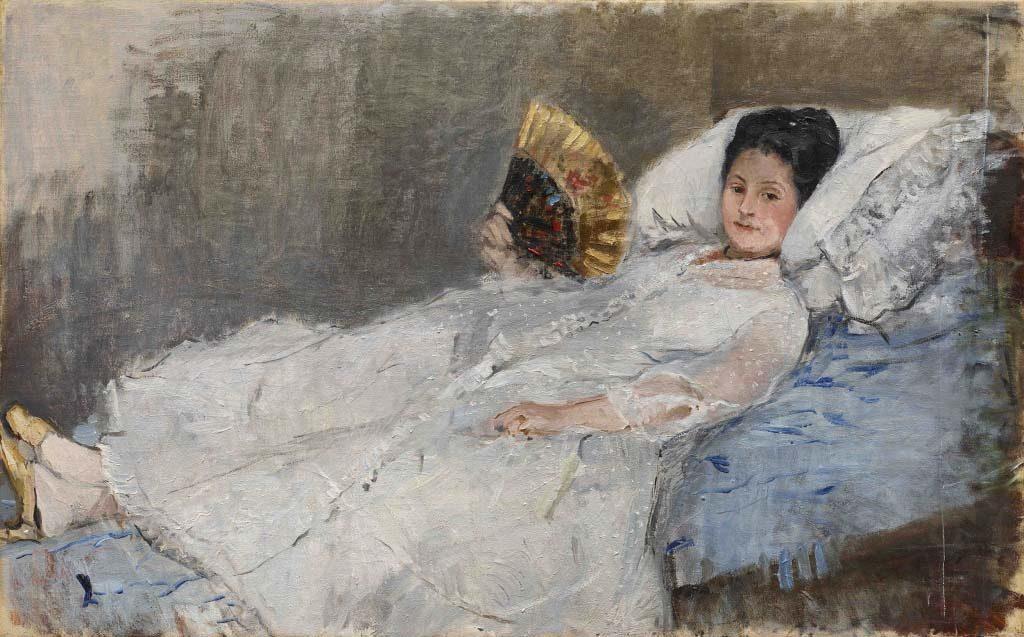 Morisot Berthe femme_eventail_marie_hubbard_1874