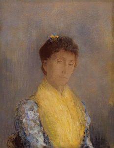 Camille-Redon-met-gele-sjaal.j