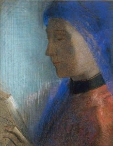Odilon_Redon-La-liseuse-Lezende-vrouw-circa-1895-1900_private-collection