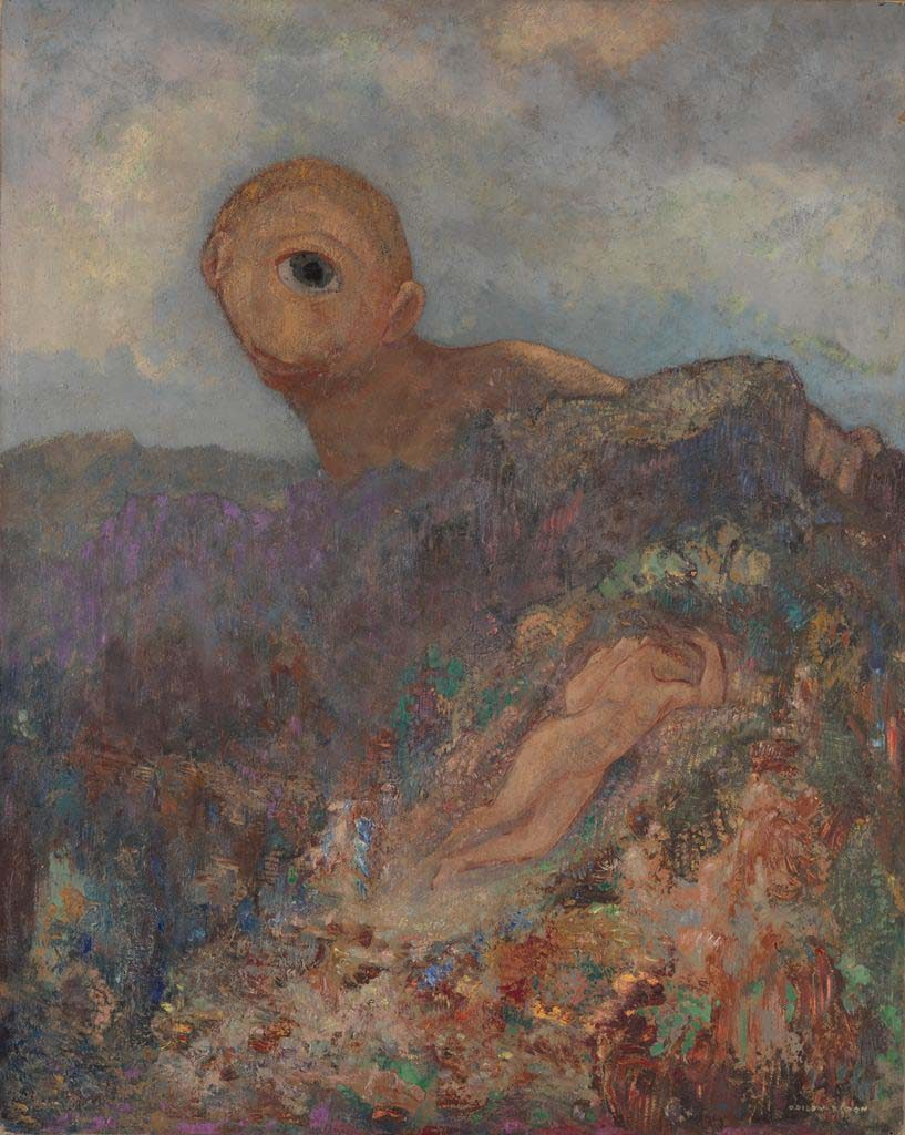 Odilon_Redon-Le-cyclope-De-cycloop-The-cyclops-circa-1914