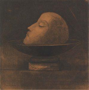 Odilon_Redon_-Hoofd-van-een-martelaar-op-een-schaal-Johannes-de-Doper-1877