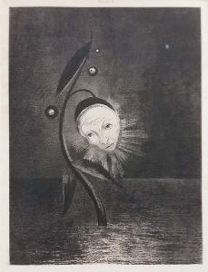 Odilon_Redon_Moerasbloem_serie-Himmage-aan-Goya-1885_-foto-wilma-Lankhorst.