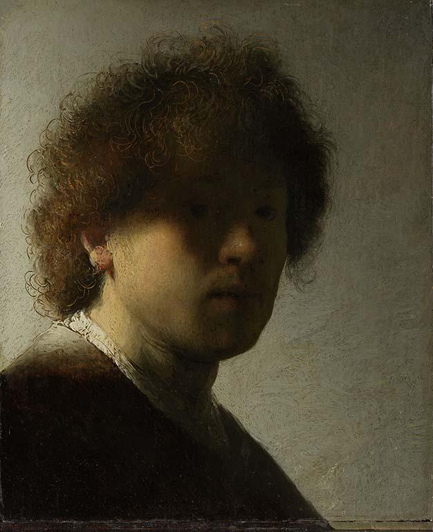 Rembrandtj en de Gouden Eeuw Zelfportrett_De-jonge-Rembrandt-1628-De-Lakenhal-Leiden-coll.-Rijksmuseum-AMS