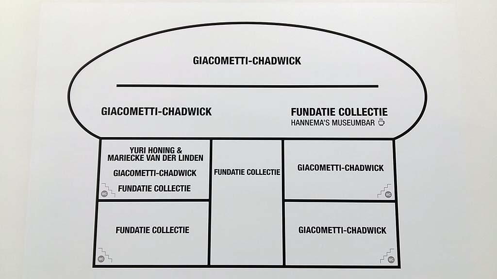 Giacometti en Chadwick indeling-in-Museum-de-Fundatie-foto-Wilma-Lankhorst