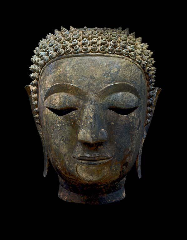 Het leven van Boeddha beeld Thailand 15e eeuw