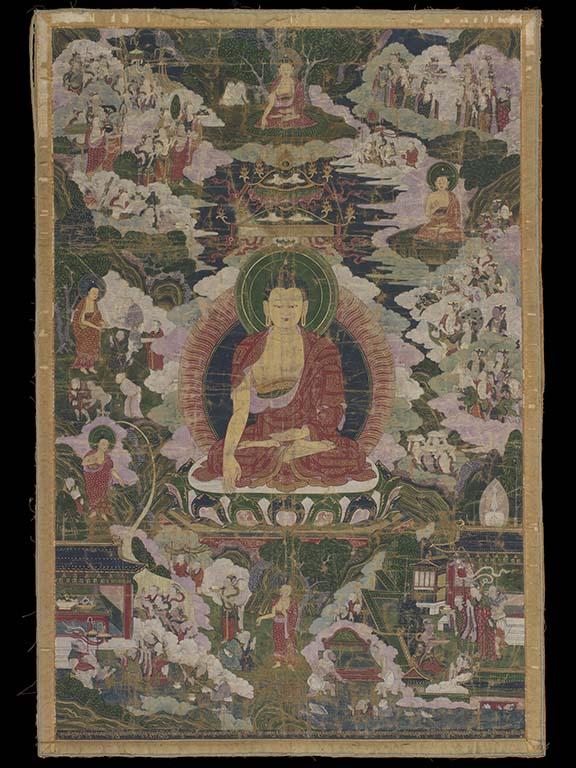 Het leven van Boeddha_wandkleed Tibet