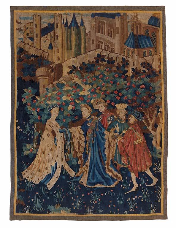Maria van Gelre Wandtapijt-Ontvangst-in-het-kasteel-Muse-des-Arts-Dcoratifs