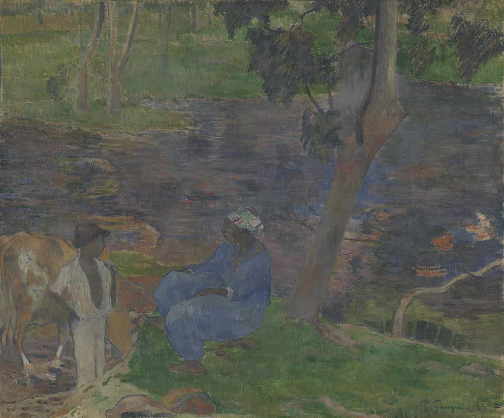 Gauguin_Aan-de-oever-van-de-rivier_-Martinique-_1887-coll-Van-Gogh-Museum