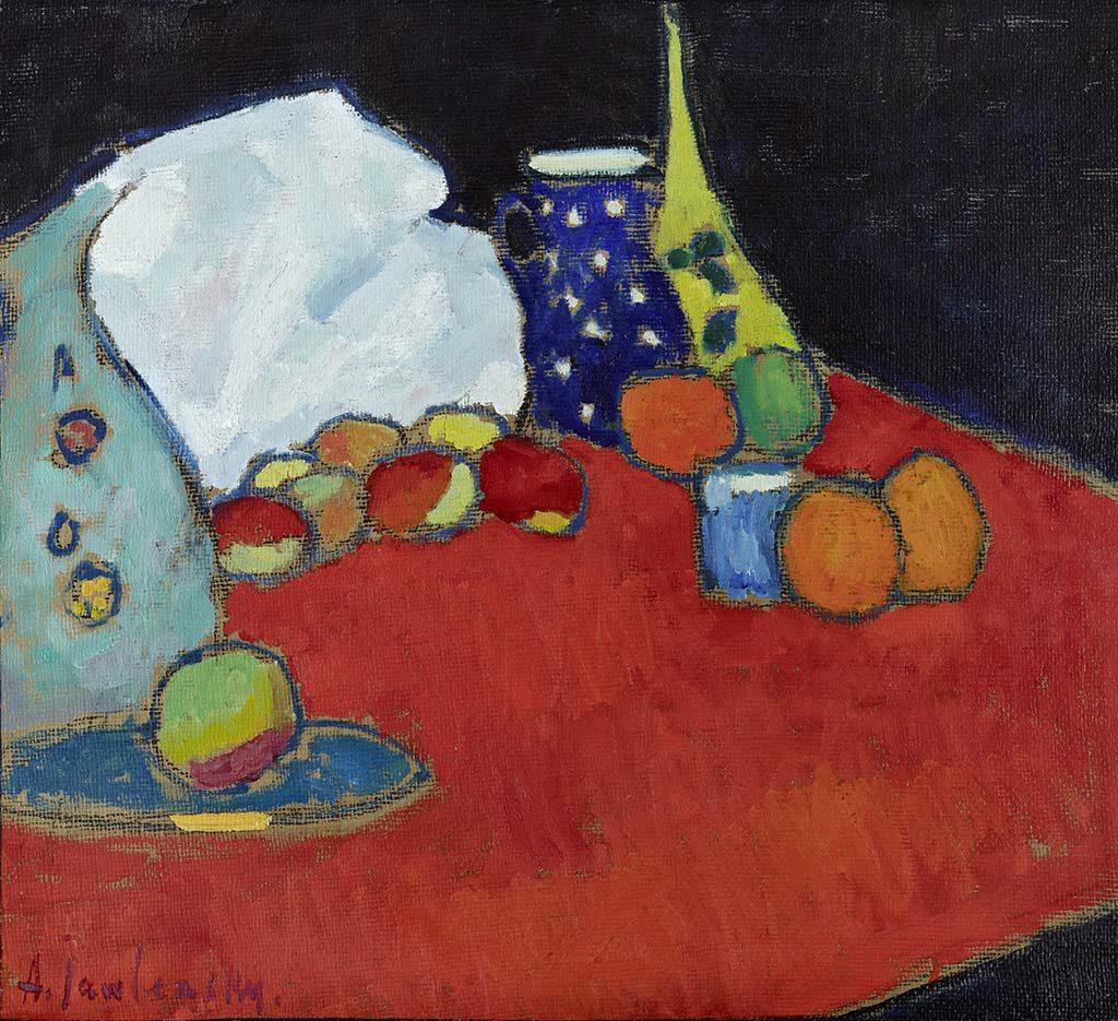 Alexej von Jawlensky Rode-tafel-1907.