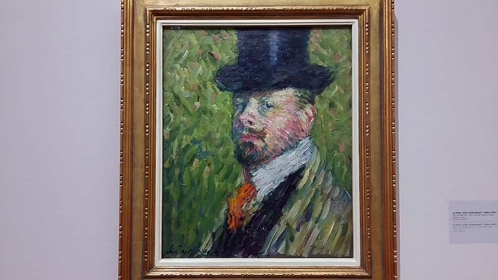 Alexej von Jawlensky zelfportret-met-hoge-hoed-1904-foto-Wilma-Lankhorst