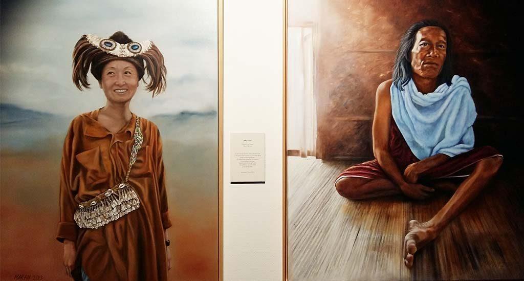 Wereldvrouwen_Marianne-van-Gaale-l.-Mongoolse-gids-r. Iban vrouw-foto-Wilma-Lankhorst.
