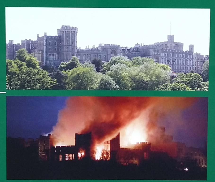 grote brand Windsor Castel 1992