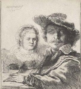 Rembrandt zelfportret-met-Saskia-1629-1633