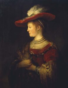 Rembrandt Saskia-en-profil-1633-1642-Museumslandschaft-Hessen-Kassel-Gemäldegalerie-Alte-Meister