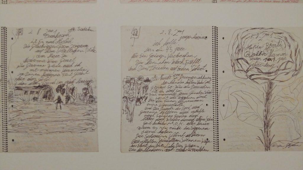 Ceija_Stojka notebooks Museum Het Valkhof foto Wilma Lankhorst