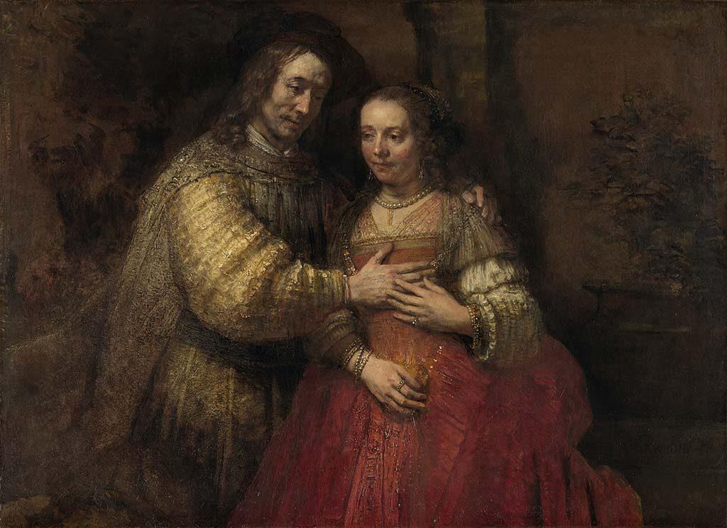 Alle Rembrandts Rembrandt-van-Rijn-Isaak-en-Rebekka-bekend-als-Het-Joodse-bruidje-ca.-1665-ca.-1669