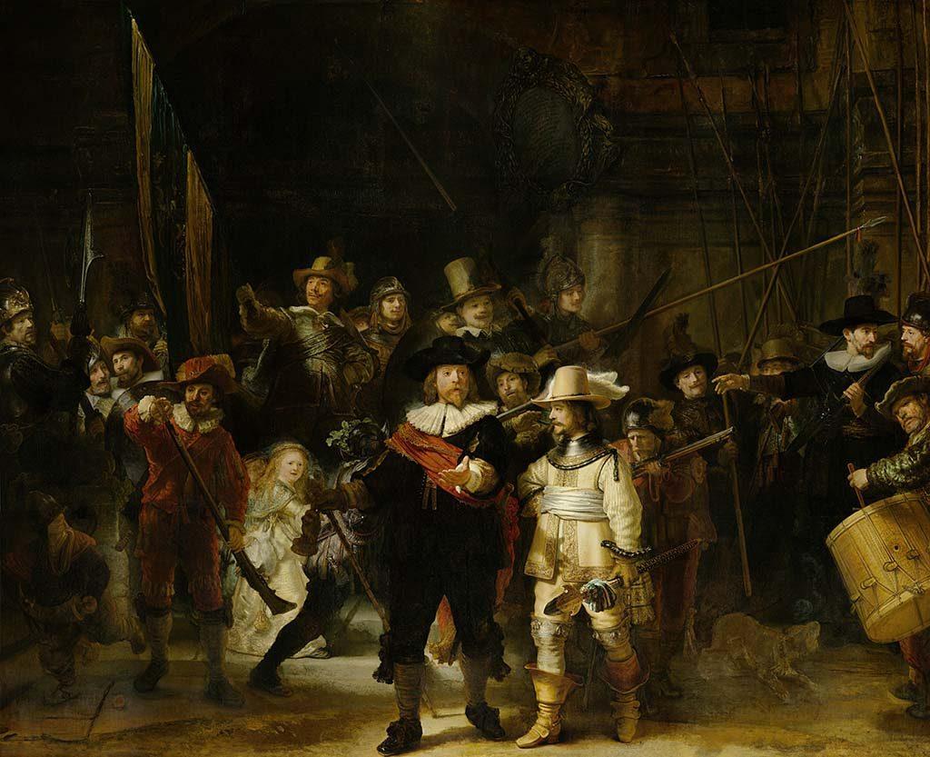 Alle Rembrandts_Rembrandt-van-Rijn-Schutters-van-wijk-II-olv-kapitein-Frans-Banninck-Cocq-de-Nachtwacht-1642