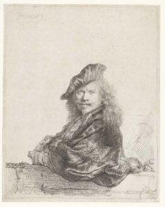 Alle_Rembrandts_Rembrandt-van-Rijn-Zelfportret-met-de-onderarm-leunend-op-een-stenen-dorpel-1639.