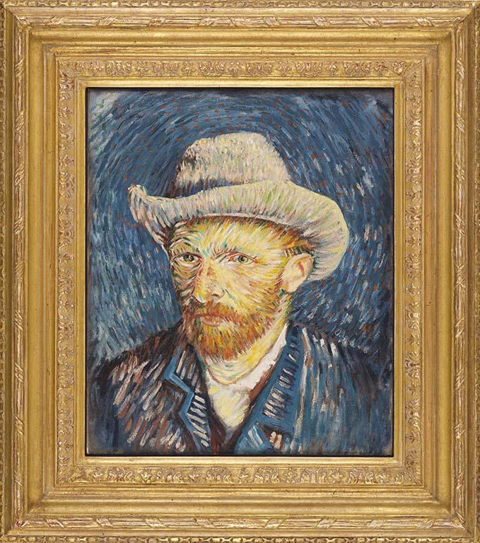 Reconstructie-Vincent-van-Gogh-LR-Zelfportret-met-grijze-vilthoed-maart-april-1887-Van-Gogh-Museum