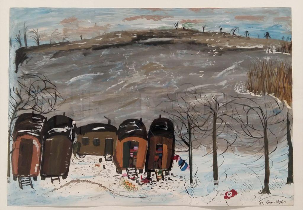 Ceija Stojka woonwagens aan het meer foto Wilma Lankhorst