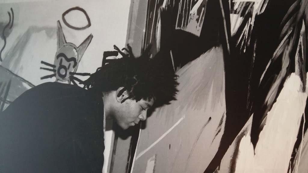 meivakantie Basquiat-in-zijn-studio-souterrein-Gallery-Annina-Noosi-NYC-foto-Marion-Busch-Wilma-Lankhorst.