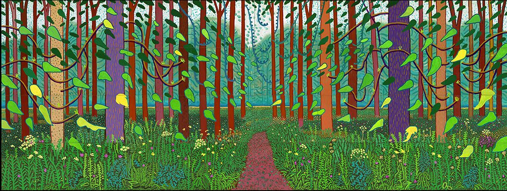 David_Hockney-Het-aanbreken-van-de-lente-in-Woldgate-East-Yorkshire-in-2011-©-David-Hockney-Foto-Richard-Schmidt-Coll.-Centre-Pom