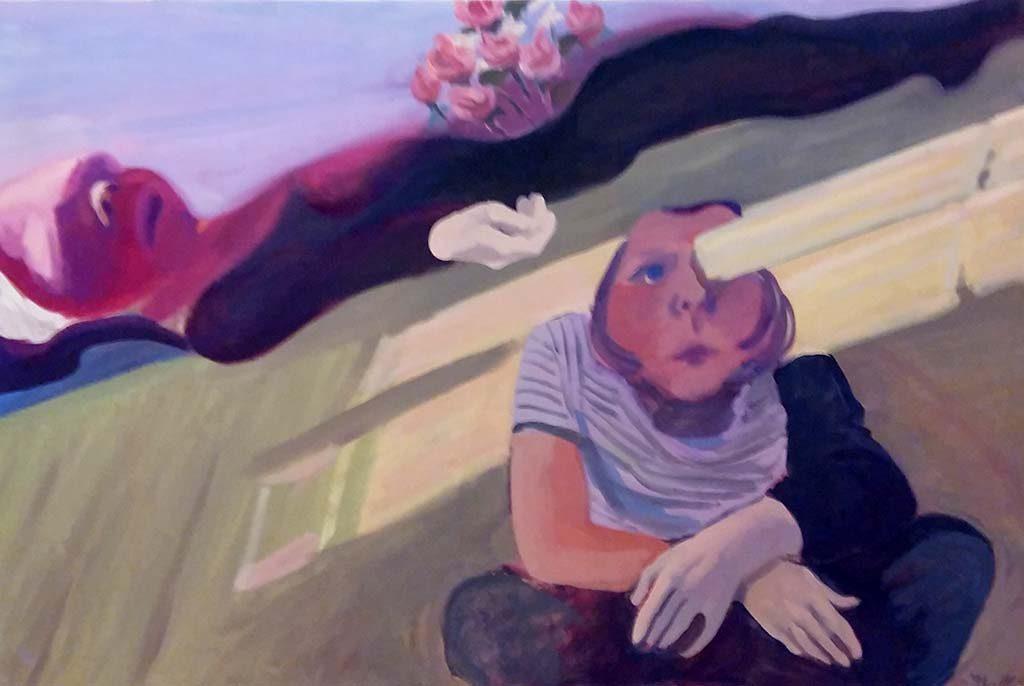 Maria Lassnig (1964) Balken-in-het-oog-dood-moeder-met-zelfportret-foto-Wilma-Lankhorst