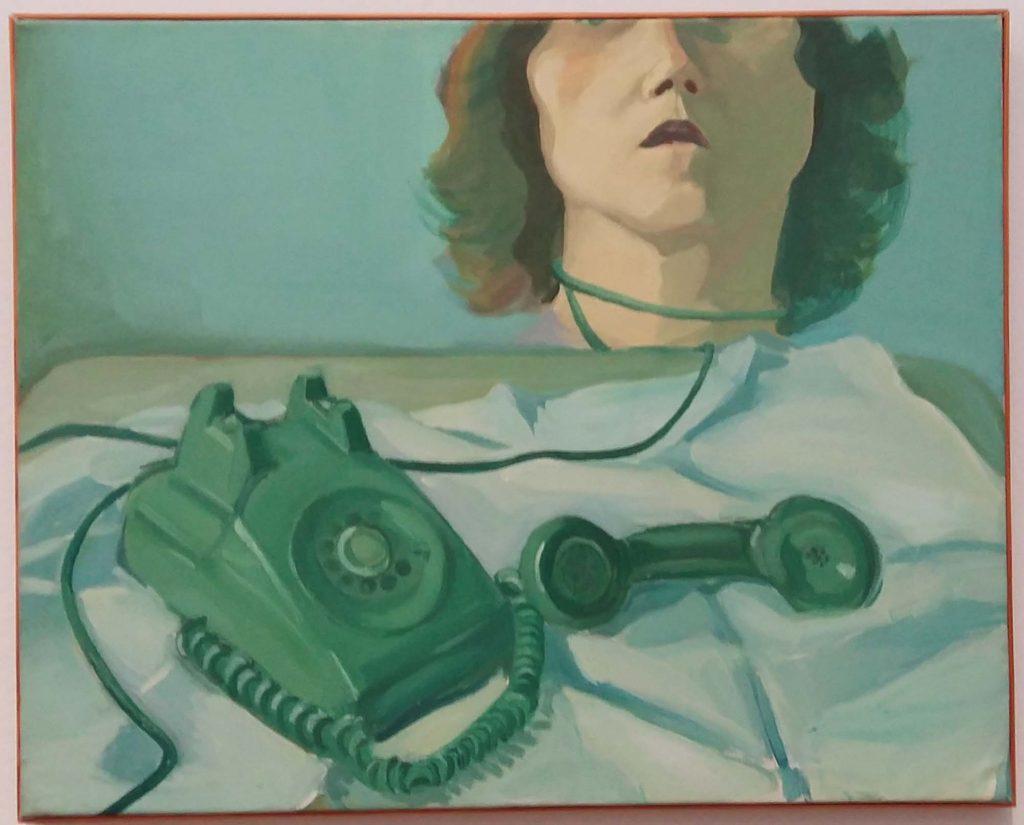 Maria Lassnig zelfportret met telefoon (1973) foto-Wilma-Lankhorst