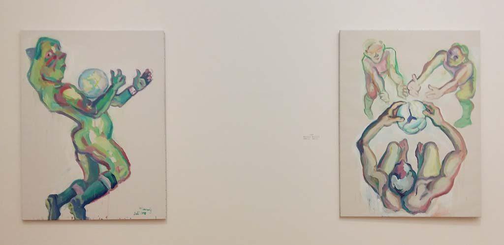 Maria_Lassnig-voetballen-als-metafoor-voor-samenwerking-en-overleg-foto-Wilma-Lankhorst.