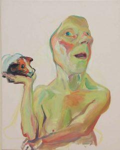 Maria_Lassnig-zelfportret-met-cavia-2000-foto-Wilma-Lankhorst