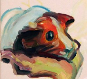 Maria_Lassnig-zelfportret-met-cavia-detail-2000-foto-Wilma-Lankhorst