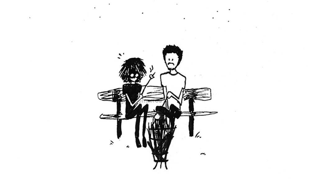 Noëlle_Marres_kampvuur-pentekening