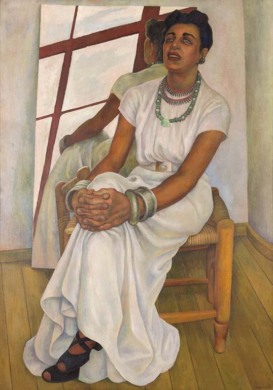 Intens Mexico Fotografía bajo luz visible Diego Rivera, Retrato de Lupe Marín, 1938