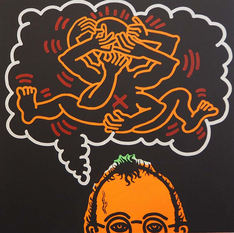 Keith_Haring zelfportret ©KH Fondation foto Wilma Lankhorst