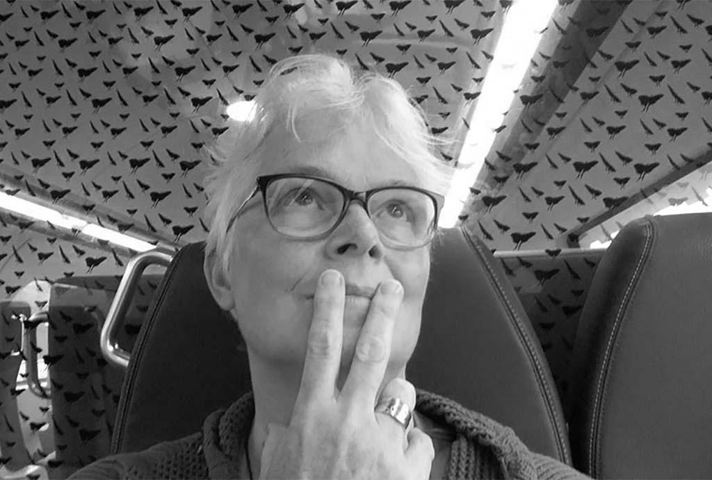 Rosemin_Hendriks selfie Wilma Lankhorst in de trein terug na Could it be me
