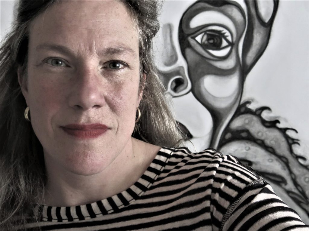 Rosemin Hendriks_selfie voor schets (2019) © Rosemin Hendriks