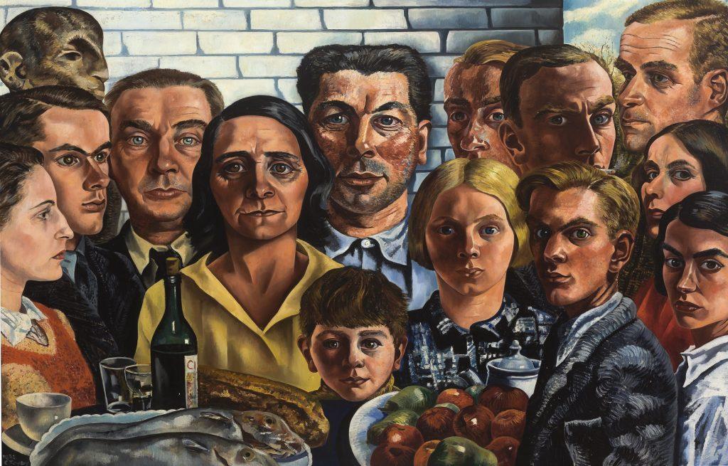 Charley- Toorop- Maaltijd der Vrienden (1932-1933) Museum Boijmans Van Beuningen Rotterdam