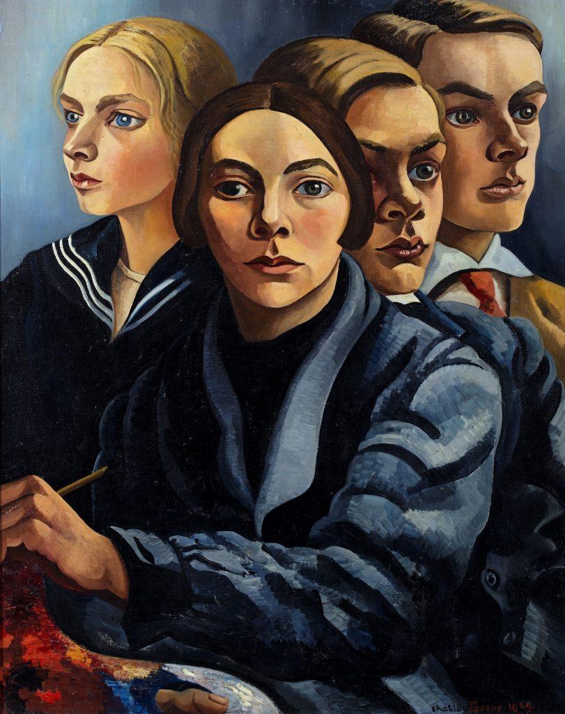 Charley_Toorop- zelfportret met drie kinderen (1929) Groninger Museum