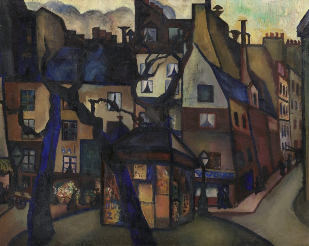 Charley_Toorop_ Place de la Contrescarpe (1921) collectie Kröller-Müller Museumo